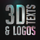 Stylish 3D Texts and Logos