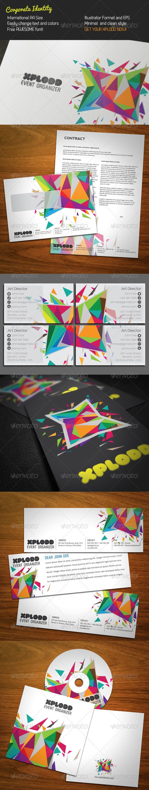 Color Explosion Stationery - Stationery Print Templates