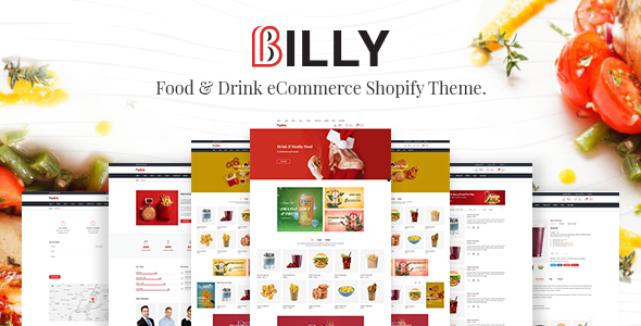 Billy - Food & Drink Store Shopify Theme