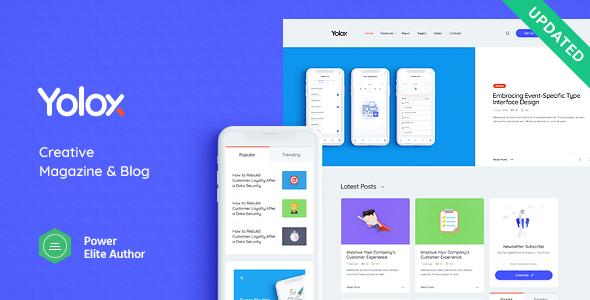 Yolox | Modern WordPress Blog Theme for Business & Startup