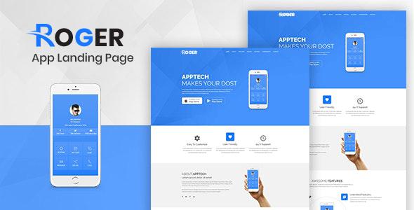 Roger - Multipurpose Landing Page Template