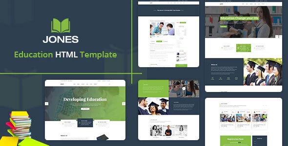 Jones - Education HTML Template