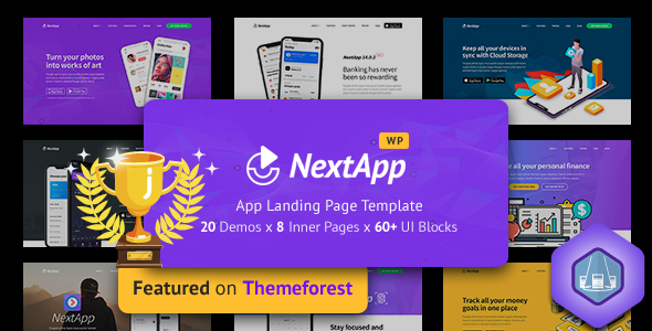 NextApp - App Landing WordPress Theme