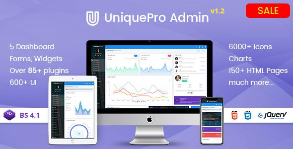 Fabulous UniquePro - Bootstrap 4 Responsive Admin Templates & Web Apps Dashboards