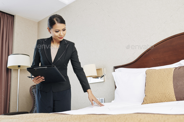Manager checking the quality - Stock Photo - Images