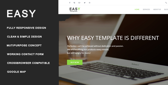 Incredible Easy - Multiuse HTML Template