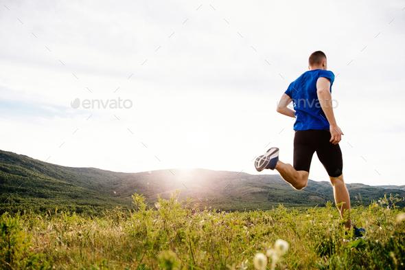 back man runner - Stock Photo - Images