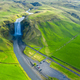 Aerial drone view of Skogafoss waterfall, Iceland - PhotoDune Item for Sale