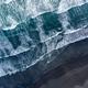 Aerial drone view of Atlantic ocean waves washing black basaltic sand beach, Iceland - PhotoDune Item for Sale