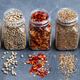 Assortments of Spices in Jars on Grey Stone Background. - PhotoDune Item for Sale