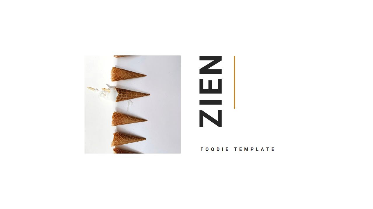 Zien - Food Google Slides Template