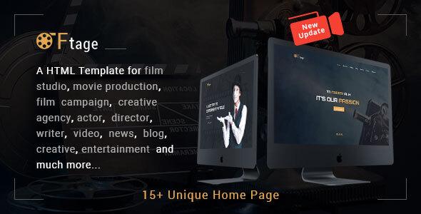 Film Studio Movie Production HTML Template - Ftage