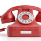 Red old telephone isolated on white background. 3d illustration - PhotoDune Item for Sale