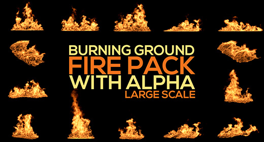 Burning Ground Fire LARGE SCALE Single Clips