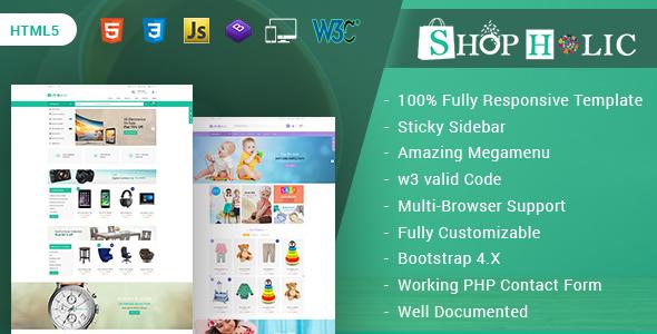 Shopholic - Responsive Multipurpose HTML5 Template