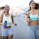 Group of young people jogging and running outdoors in nature - PhotoDune Item for Sale