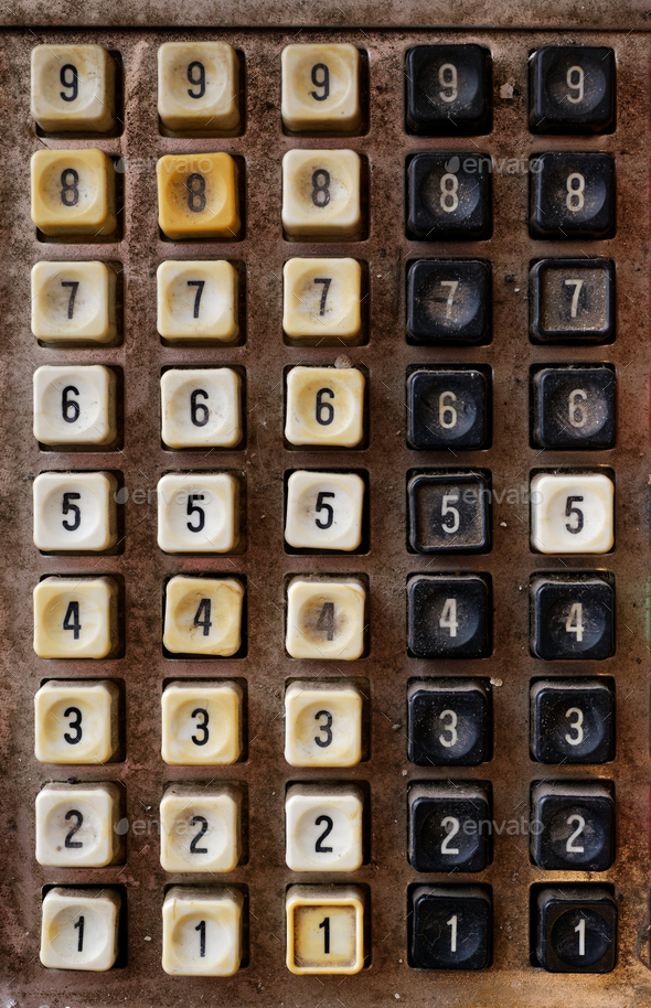 Very old numeric keyboard - Stock Photo - Images