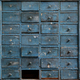 Old blue wooden cabinet with drawers - PhotoDune Item for Sale