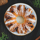Creative flat lay, top view of Swedish tea ring Christmas cake - PhotoDune Item for Sale