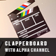 Clapperboard With Alpha Channel - VideoHive Item for Sale