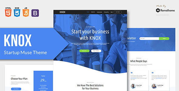 KNOX - App Landing Page HTML Template