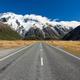 Road leading into Aoraki Mt Cook National Park NZ - PhotoDune Item for Sale