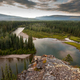 Yukon Canada taiga wilderness and McQuesten River - PhotoDune Item for Sale