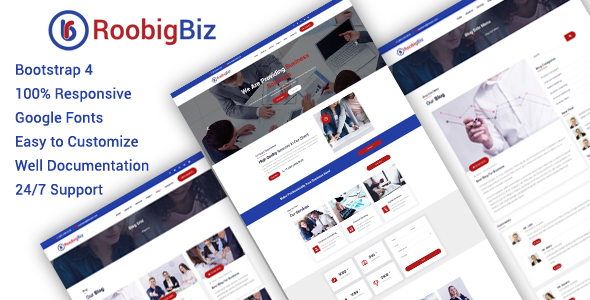 RoobigBiz - Corporate Business HTML5 Template by denthemes