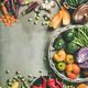 Healthy vegetarian seasonal Fall food cooking background, square crop - PhotoDune Item for Sale