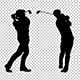 Golf Player Silhouette (3-Pack) - VideoHive Item for Sale