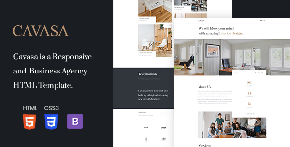 CAVASA - Responsive Interior and Architecture HTML Template