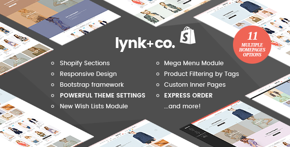 Lynk+Co - Responsive Fashion Shopify Theme (Sections Ready)