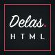 Delas - Dark Minimalist Blogging HTML Template