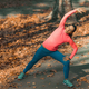 Woman Stretching in the Park. - PhotoDune Item for Sale