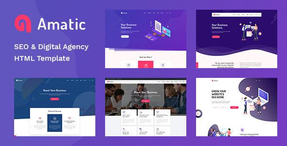 Amatic - SEO /Digital Agency HTML5 Template by TonaTheme