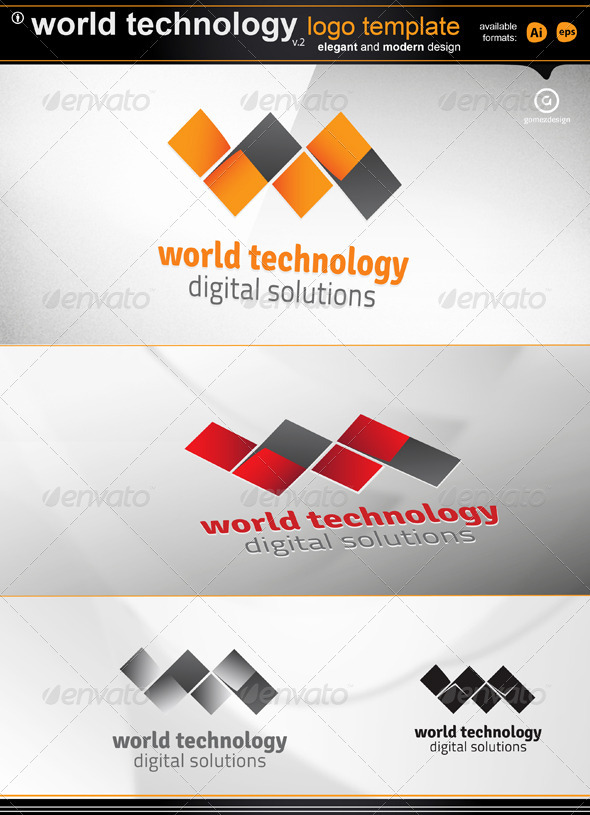 World Technology v2 - Letters Logo Templates