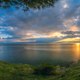 Sunset over  beautiful Lake Ohrid - PhotoDune Item for Sale