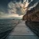 Wooden gangplank over Lake Ohrid - PhotoDune Item for Sale
