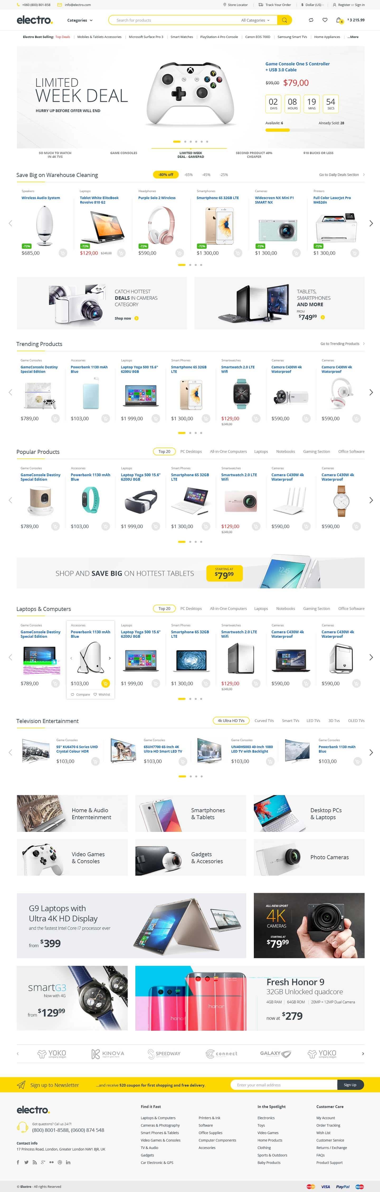 Electro Electronics Store WooCommerce Theme by