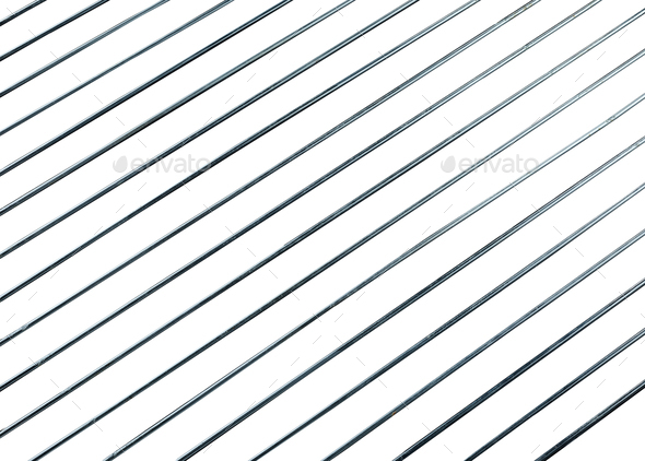 steel grating isolated on white background - Stock Photo - Images