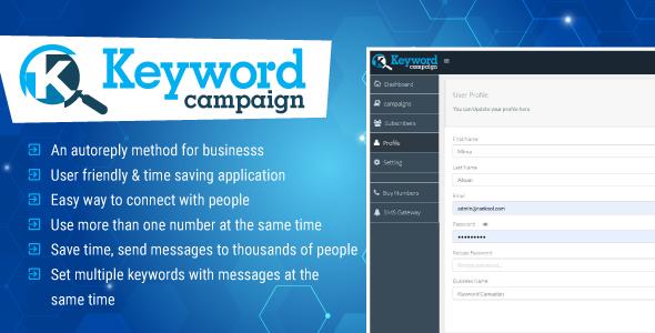 Keywords Campaign Web Application Php Script