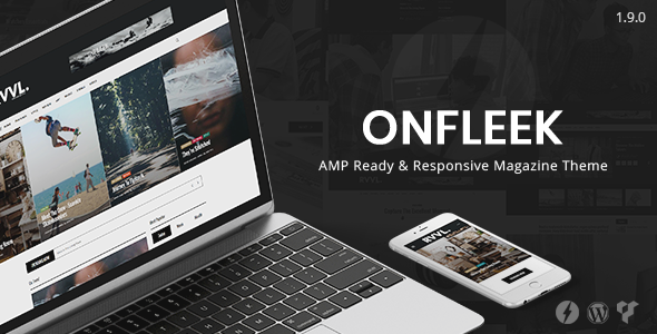 Onfleek - AMP Ready and Responsive Magazine Theme