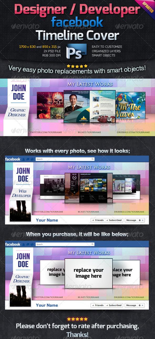 Designer / Developer Facebook Timeline Cover - Facebook Timeline Covers Social Media
