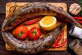 Fresh zander wilt lemon, pepper and spices close - PhotoDune Item for Sale