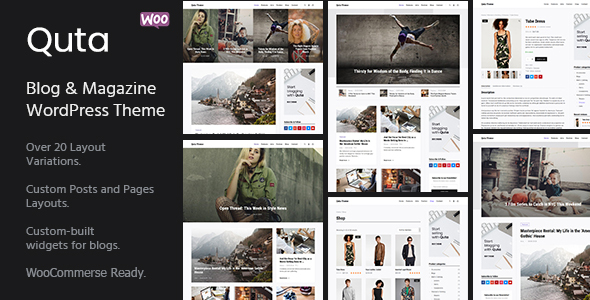 Quta - A WordPress Blog & Shop Theme