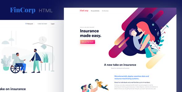 FinCorp - Finance, Insurance & Marketing Landing Page Template