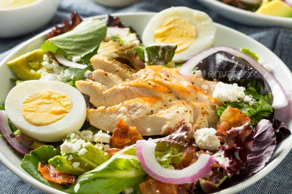 Homemade Healthy Green Goddess Salad - Stock Photo - Images