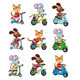Animals on Vehicles.  - GraphicRiver Item for Sale