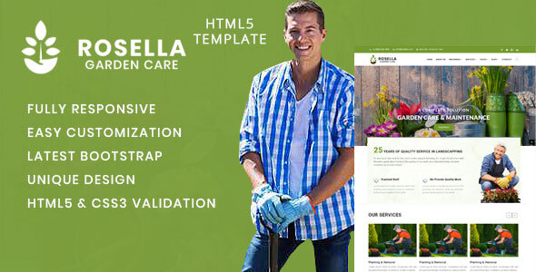 Rosella - Garden and Landscape Company HTML Template by Themelab15