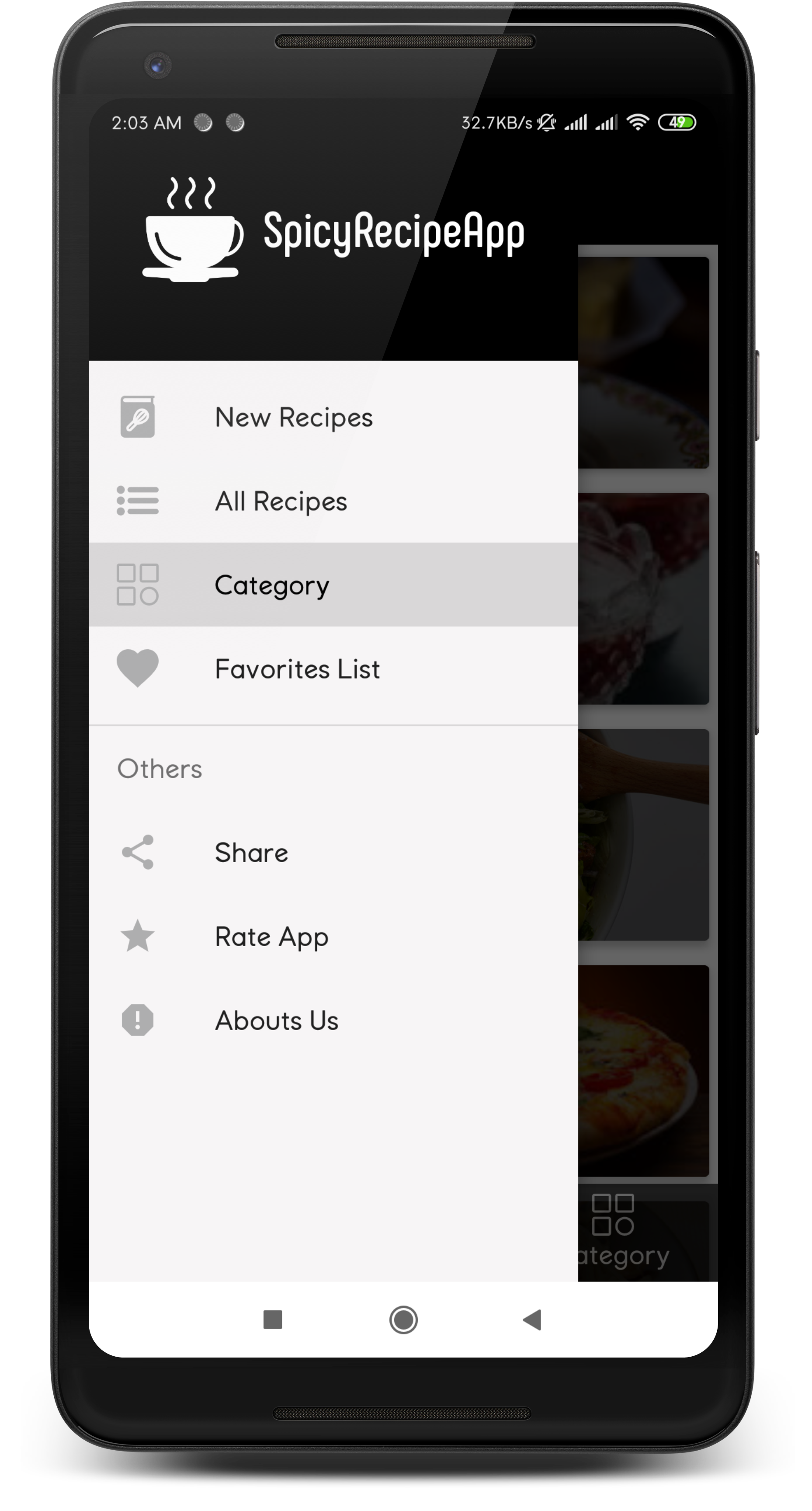 Spicy Recipe App for Android with Admob by sr-tech